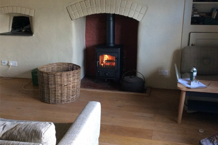 Clearview 400 in a traditional fireplace