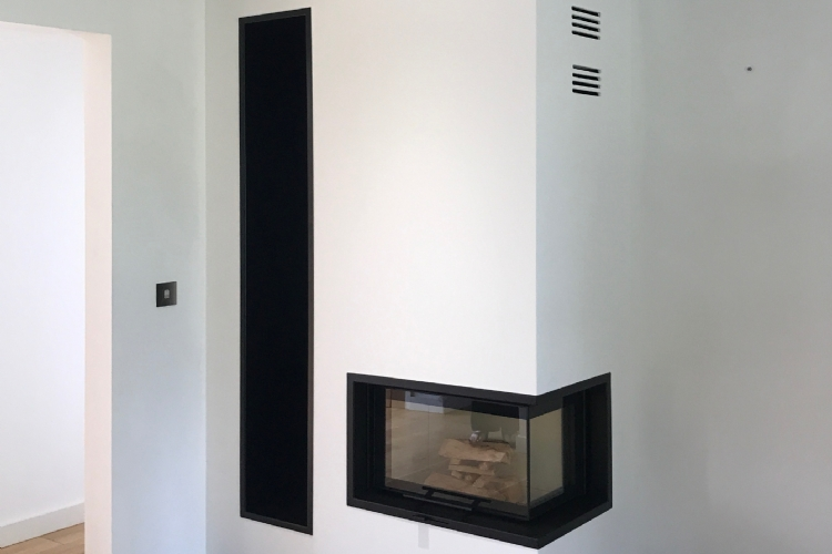Contura I40 installation in Cornwall