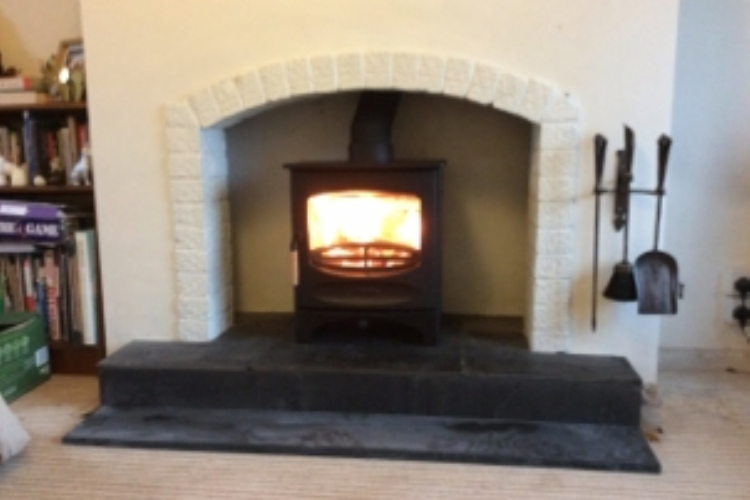 Charnwood C5 In Brick Fireplace