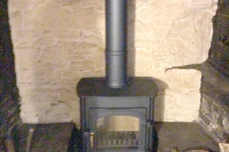 Clearview Solution in a very traditional fireplace