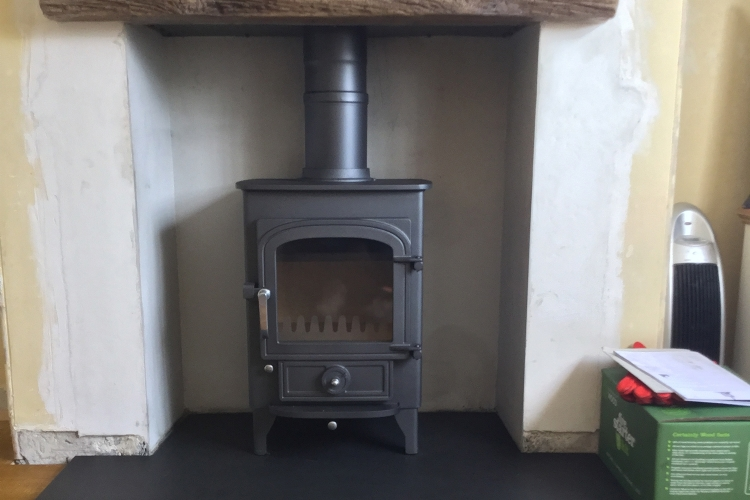 Clearview Pioneer with Faux Wood Lintel