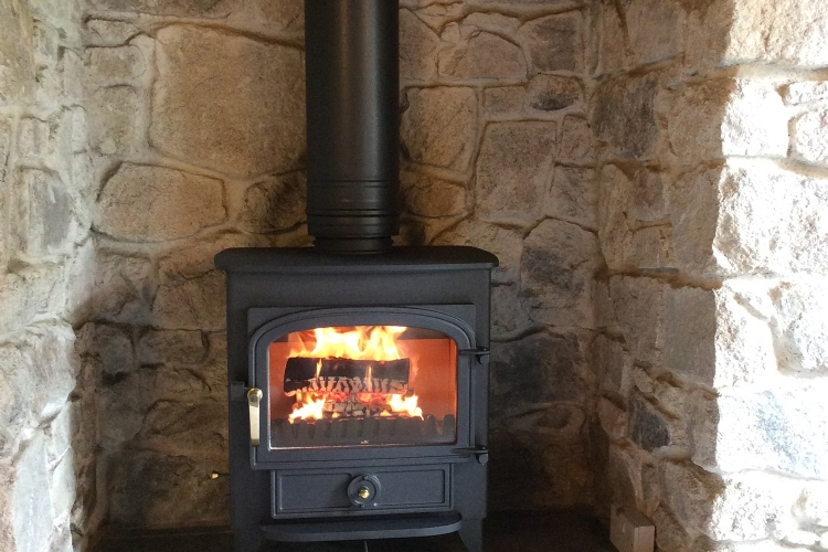 Clearview Vision in Stone fireplace in Cornwall