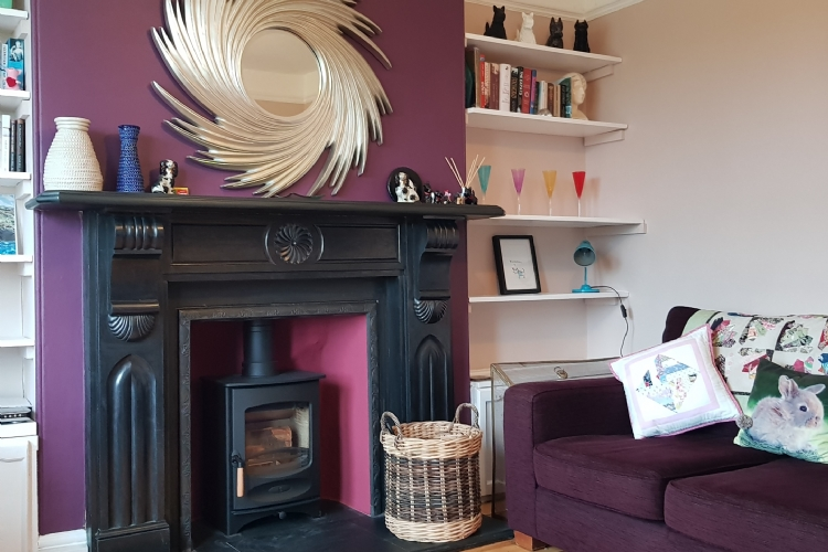 Charnwood C4 in a purple lounge in Cornwall