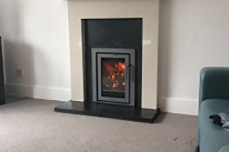 Replacing and open fire with a Contura i4